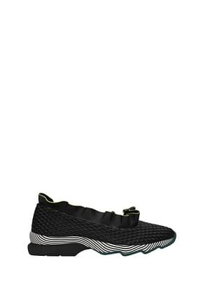 Fendi Sneakers Femme Cuir Noir