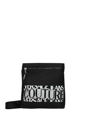 Versace Jeans Crossbody Bag couture Men Polyurethane Black