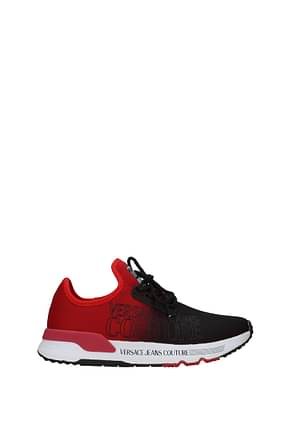 Versace Jeans Sneakers couture Hombre Tejido Rojo Negro