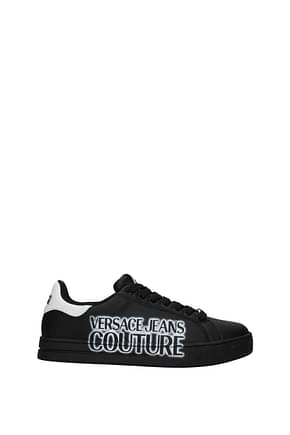 Versace Jeans Sneakers couture Men Leather Black