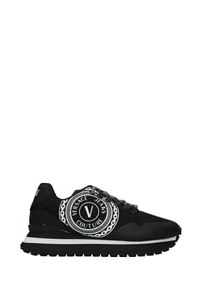 Versace Jeans Sneakers couture Hombre Tejido Negro