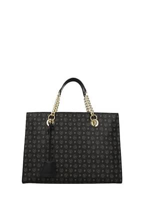 Pollini Handbags Women PVC Black Fog