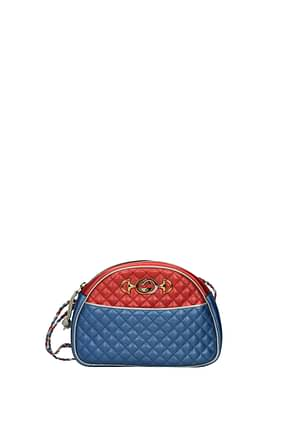 Gucci Crossbody Bag Women Leather Blue Red