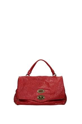 Zanellato Handbags postina s Women Leather Red Flame