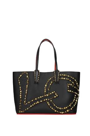 Louboutin Shoulder bags Women Leather Black