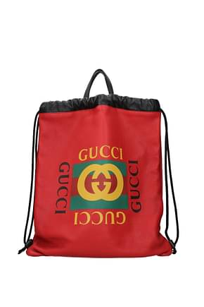 Gucci Backpack and bumbags Men Leather Red