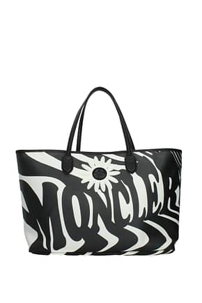 Moncler Shoulder bags Women Fabric  Black White