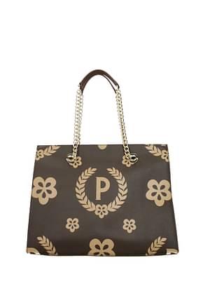 Pollini Shoulder bags Women PVC Brown Brown