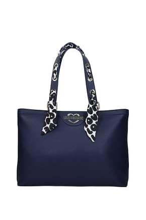 Love Moschino Shoulder bags Women Polyurethane Blue Blue Navy