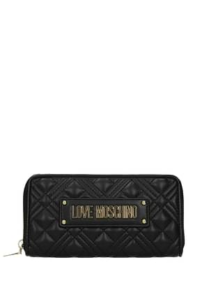 Love Moschino Wallets Women Polyurethane Black