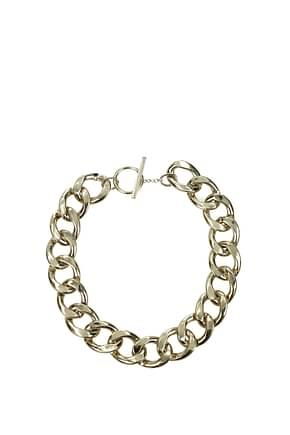 Saint Laurent Necklaces Women Brass Gold