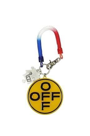 Off-White Key rings Men Plastic Multicolor