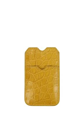 Burberry Selfphone cover Women Leather Yellow Mustard