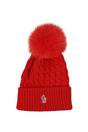 Moncler Hats Women Virgin Wool Red