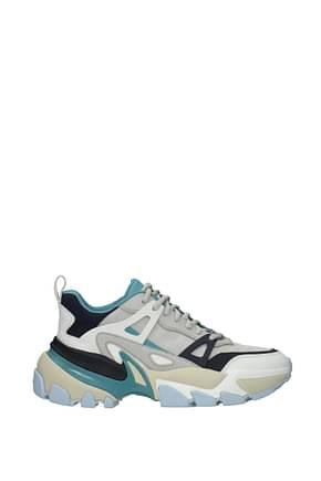 Michael Kors Sneakers nick Men Leather Gray Aluminum