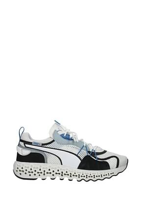 Puma Sneakers Men Fabric  White Black