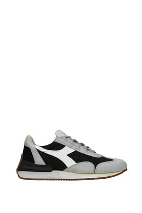 Diadora Heritage Sneakers equipe  Homme Tissu Noir Gris Clair