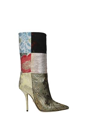 Dolce&Gabbana Ankle boots Women Fabric  Multicolor