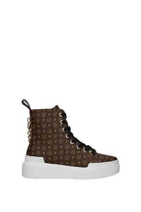 Pollini Sneakers Femme PVC Marron