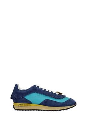 Palm Angels Sneakers Herren Stoff Celeste Blau