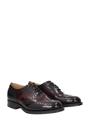 Church's Lace up and Monkstrap Men Leather Red