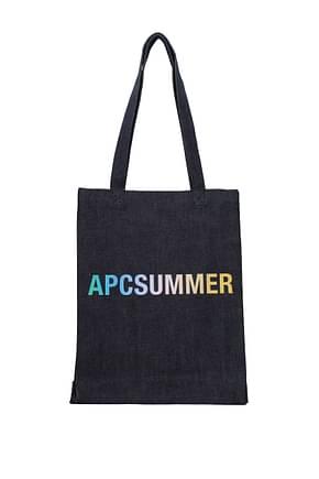 A.P.C. Shoulder bags Women Fabric  Blue Denim