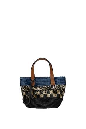 Jw Anderson Handbags Women Raffia Black Royal Blue