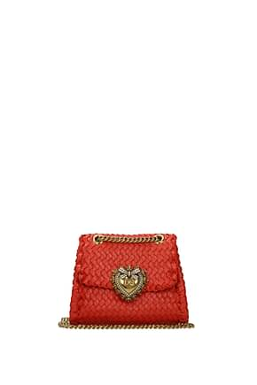 Dolce&Gabbana Shoulder bags Women Leather Orange
