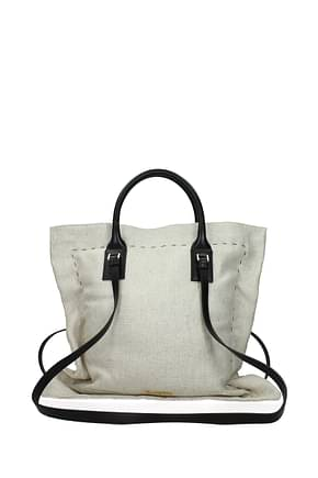 Jacquemus Crossbody Bag Women Fabric  Beige Black
