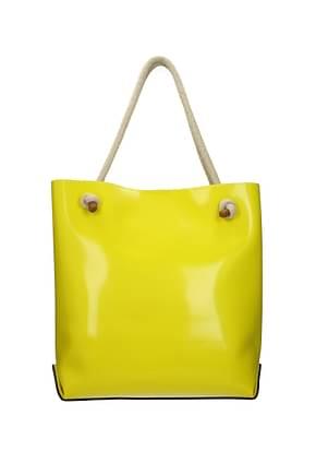 Gum By Gianni Chiarini Shoulder bags Women Rubber Yellow