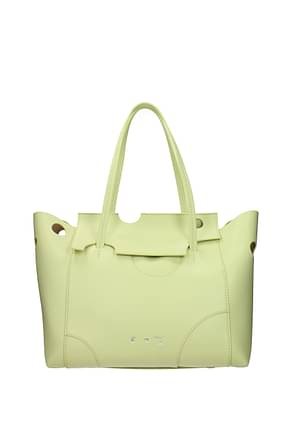 Off-White Shoulder bags Women Leather Green Lime