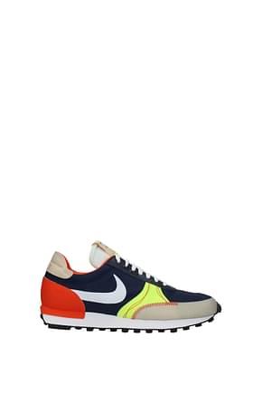 Nike Sneakers dbreack Men Fabric  Blue Fluo Orange