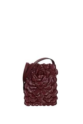 Valentino Garavani Crossbody Bag Women Leather Red Cherry