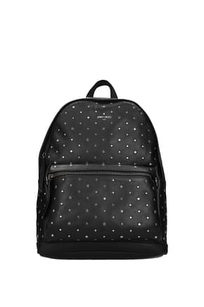 Jimmy Choo Backpack and bumbags Men Leather Black
