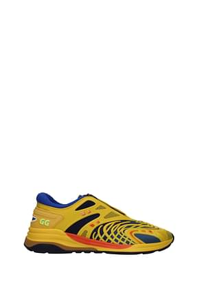 Gucci Sneakers Men Rubber Yellow