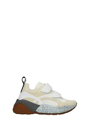 Stella McCartney Sneakers Damen Kunstleder Beige Weiß