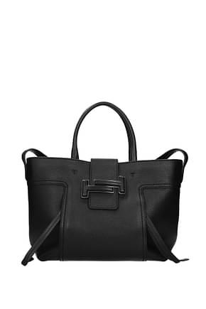 Tod's Handtaschen Damen Leder Schwarz
