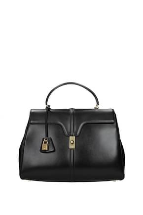 Celine Handbags Women Leather Black