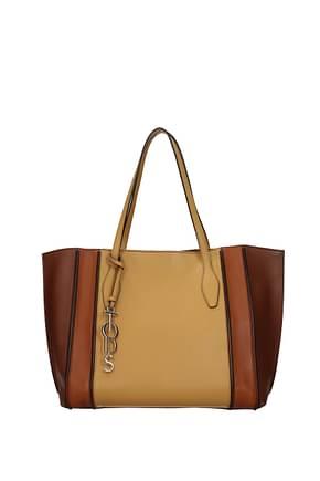 Tod's Shoulder bags Women Leather Brown Saffron