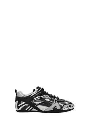 Balenciaga Sneakers Femme Cuir Noir Blanc