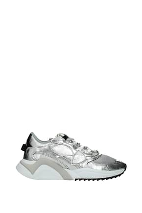 Philippe Model Sneakers eze Homme Cuir Argent