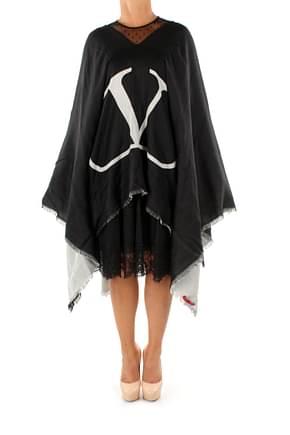 Valentino Bufandas cape Mujer Lana Virgen Negro
