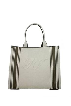 Roger Vivier Handbags Women Fabric  Beige Olive