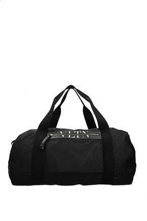 Valentino Garavani Travel Bags Men Fabric  Black