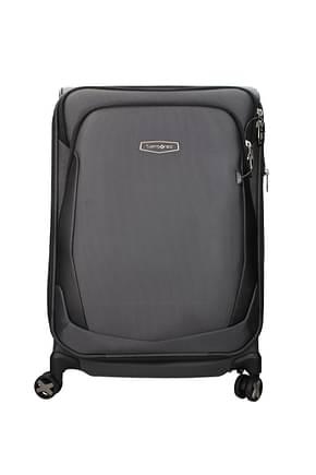 Samsonite Wheeled Luggages x blade 4.0 66/72l Men Fabric  Gray Black