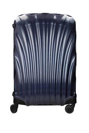 Samsonite Wheeled Luggages lite locked 68l Men Polypropylene Blue Blue Navy