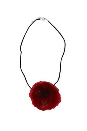 Saint Laurent Necklaces Women Plastic Red