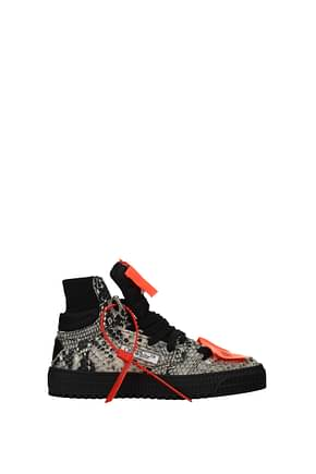 Off-White Sneakers Femme Cuir Gris