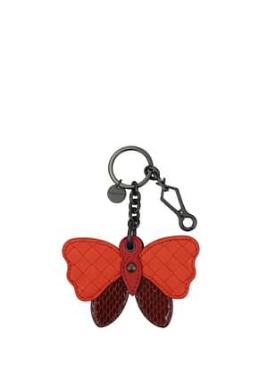 Bottega Veneta Key rings Women Leather Red Bordeaux