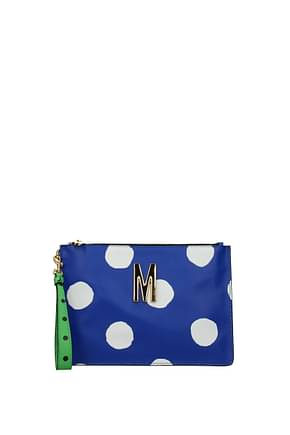 Moschino Clutches Women Leather Blue